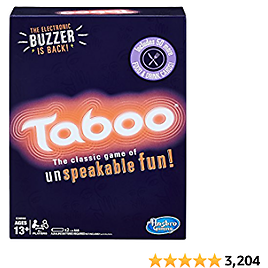 Hasbro Gaming Taboo Party Board Game With Buzzer for Kids Ages 13 and Up
