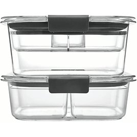 9 Piece Set Rubbermaid, Brilliance, Food Storage Container, Salad and Snack Lunch Combo Kit