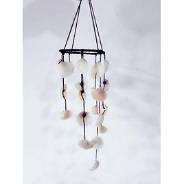Wind Chime Sea Shell, Home And Garden Decor, Shell Mobile,Vintage Look And Lovely Gift.