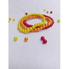 Set of Bracelets with Colorful Coral Beads(Jewelry Supplies,Women Wear,Party Wear And Lovely Gift.)