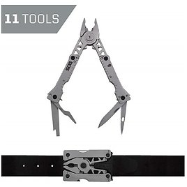 SOG Multitool Belt Buckle - Sync I EDC Multi Tool Gadgets for Men, Pliers, Knife and 11 Survival Tools and Gadgets in Mini Tool