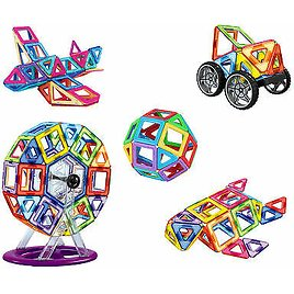 106 Pieced Magnetic 3D Toy Blocks Set