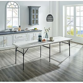 Mainstays 8-foot Fold-in-Half Folding Table, Multiple Colors
