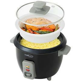 PREMIUM 6-Cup Black Rice Cooker and Rice Steamer