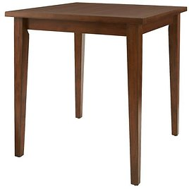 StyleWell StyleWell Walnut Finish Wood Square Bar Table for 4 (36 In. D X 36 In. H)-12596W