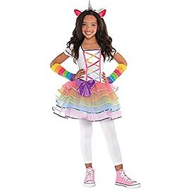 Rainbow Unicorn Halloween Costume for Girls, Small, with Included Accessories