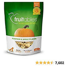 Fruitables Baked Dog Treats | Pumpkin Treats for Dogs | Healthy Low Calorie Treats | Free of Wheat, Corn and Soy