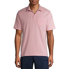 George Men's and Big Men's Short Sleeve Solid Jersey Polo