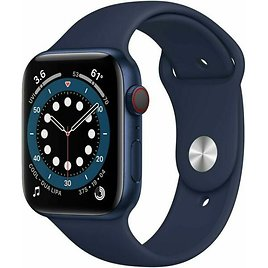 Apple Watch Series 6 44 Mm Blue Aluminum Case with Deep Navy Sport Band Smartwatch for Sale Online