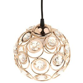 Iron Crystal Light Cage Hanging Lamp Shade Light Pendant Light Bulb Cover with