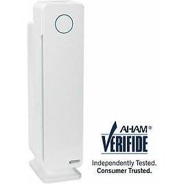 GermGuardian - Elite Collection 167 Sq. Ft Tower Air Purifier - Crystal White