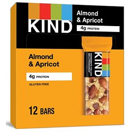12 Count KIND Bars Almond & Apricot, Gluten Free 1.4 Ounce Bars