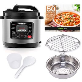 GoWISE USA 8 Qt. Stainless Steel Electric Pressure Cooker