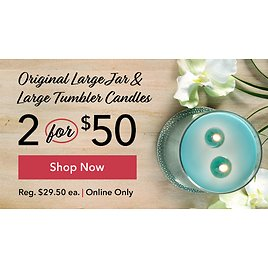 2 for $50 Large Jar & Tumbler Candles - Yankee Candle