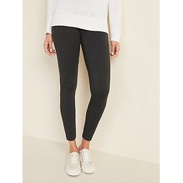 Mid-Rise Jersey Leggings for Women (3 Colors)