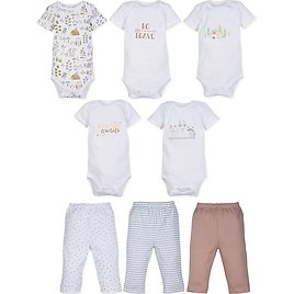 Buybuybaby,MiracleWear Size 3M 5-Pack Boy Bodysuits and 3-Pack Pants Set