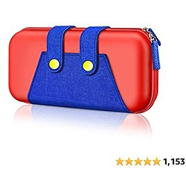 Switch Carrying Case for Nintendo, BEBONCOOL Switch Case Portable Travel Carry Case Compatible with Nintendo Switch Console & Accessories, Protective Shell Switch Storage Bag with Game Storage