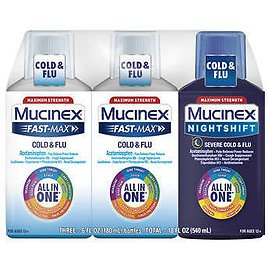 Mucinex All-In-One Fast-Max Day/Night, 18 Ounces