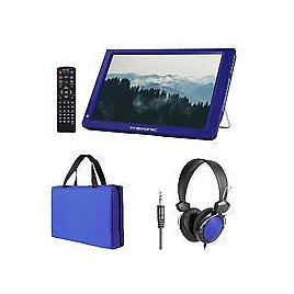 """Exclusive! Trexonic 14"""" LED Portable TV with Carry Bag, Headphones and Antenna"""