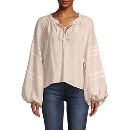 Solid Peasant Blouse