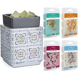 New! Candle Warmers Modern Cottage Illumination Fragrance Warmer w/ 4 Melts
