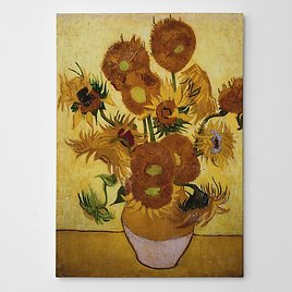 Sunflowers By Vincent Van Gogh - Oil Painting Print On Wrapped Canvas