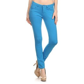 Love This Product Turquoise Five-Pocket Pants - Women