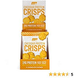 (12-Pack) MusclePharm Protein Cheese Crisps, 14g Protein, Cheddar, 1 Ounce