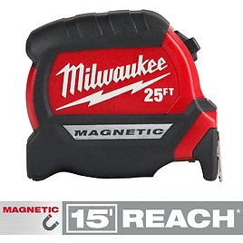 Milwaukee 25 Ft. X 1 In. Compact Magnetic Tape Measure with 15 Ft. Reach-48-22-0325