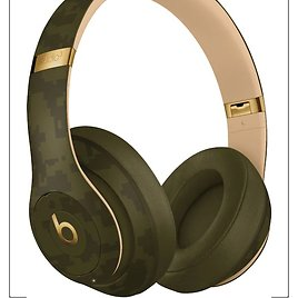 Beats By Dr. Dre Beats Studio³ Camo Collection Wireless Noise Cancelling Over-the-Ear Headphones Forest Green MWUH2LL/A