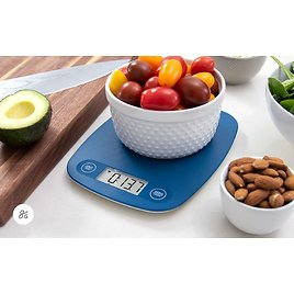 GreaterGoods Digital Food Kitchen Scale (Cobalt Blue), Portion Helps Support Global Orphan Project: Industrial & Scientific