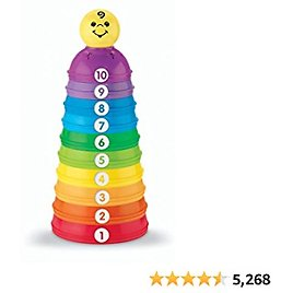 Fisher-Price Brilliant Basics Stack & Roll Cups Toys & Games