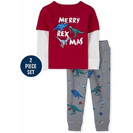 Baby And Toddler Boys Christmas Dino Outfit Set