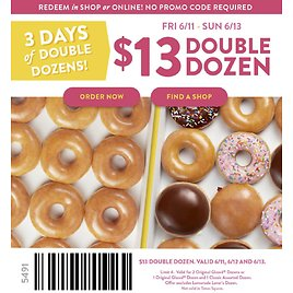 3 Days of Double Dozens for $13!
