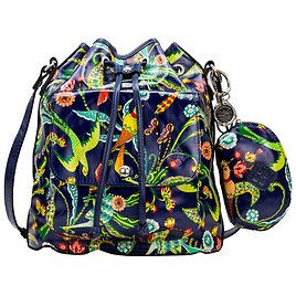 Exclusive! Patricia Nash Sabina Leather Drawstring Bag with Pouch