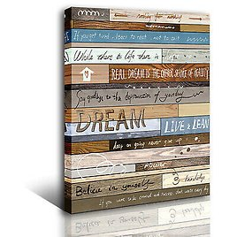 Quotes Wall Art Inspirational Canvas Wall Art for Study Decoration