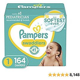 Pampers, Diapers NewbornSize 814 Lb Swaddlers Disposable Baby Diapers Enormous Pack (Packaging May Vary), 164 Count