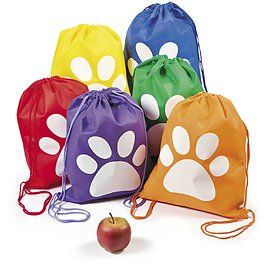 Paw Print Drawstring Backpack(12) - PartyBell.com