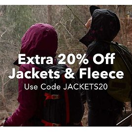 Up to 85% Off + Extra 20% Off Select Jackets & Fleece