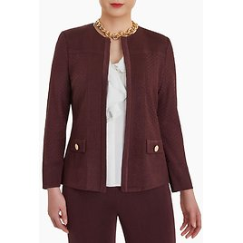Dual Texture Solid Knit Jacket