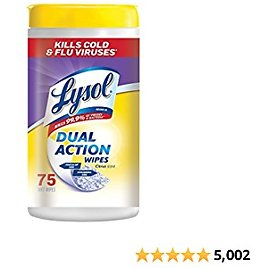 Lysol Dual Action, Disinfecting Wipes, Citrus.