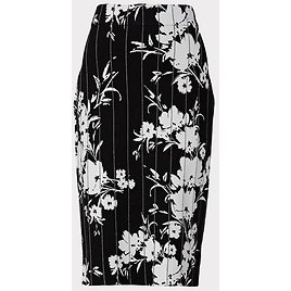 Silhouette Floral Fitted Skirt