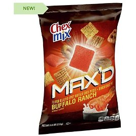 8 Bags of Chex Mix MAX'D Snack Mix Buffalo Ranch - BIG 7.5 Bags! - This Same 8-pack Is Currently $52 On Amazon with 5 Star Reviews! - Order 2 or More 8-packs and SHIPPING IS FREE! - 13 Deals