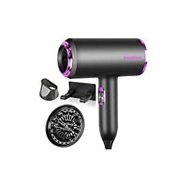 SHRATE Ionic Hair Dryer, Professional Salon Negative Ions Hair Blow Dryer Powerful 1800W for Fast Drying with 3 Heating / 2 Speed/Cool Button, Constant Temperature Hair Care Without Damaging Hair: Health & Personal Care