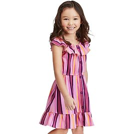 Baby And Toddler Girls Mommy And Me Striped Ruffle Dress