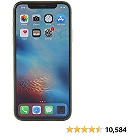Apple IPhone X, 64GB, Space Gray - For GSM (Renewed)
