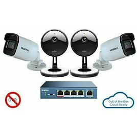 Uniden UC4202 4-Camera 1080p Indoor/Outdoor Security Cloud System with 5-Port Po 50633407547