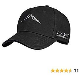 VOXLOVA Baseball Hat Adjustable Outdoor Golf Hat 100% Cotton Twill Fitted Hat Dad Hat Caps Unisex Adult