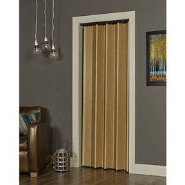 """Spectrum Woodshire Accordion Folding Door Fits 48""""wide X 96""""high Solid Core Vinyl Laminated MDF Natural Oak Color"""