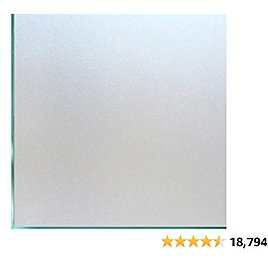 Coavas Window Films Privacy Non Adhesive Frosted Home Office Films Window Stickers Self Static Cling Vinyl Glass Film Decorations for Bathroom Office Meeting Room, Matte Pure 17.5by78.7 Inch